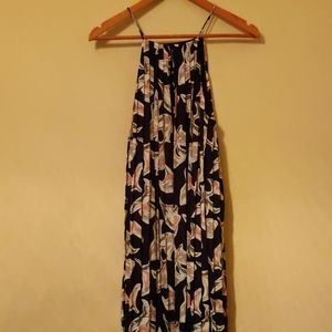 Maxi dress with lillies